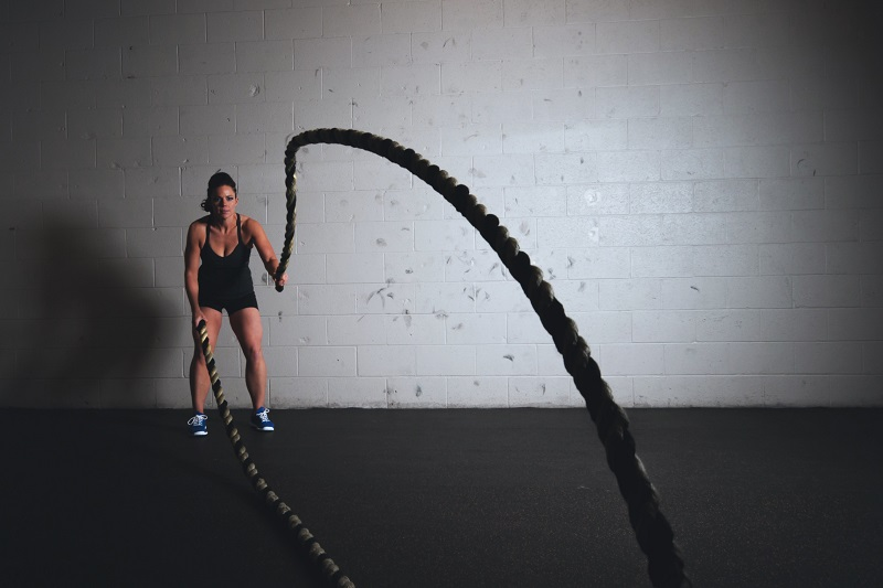 Girl doing functional workout