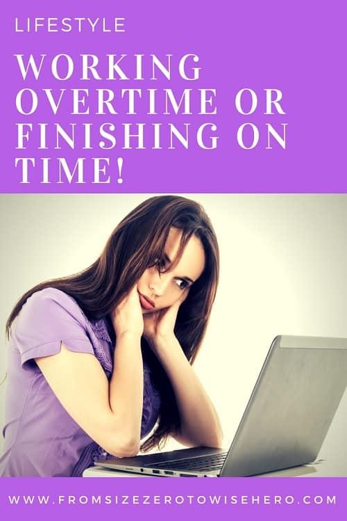 Working Overtime or Finishing Onetime Pinterest