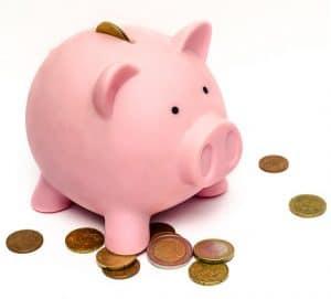 A Pink Color Piggy Bank