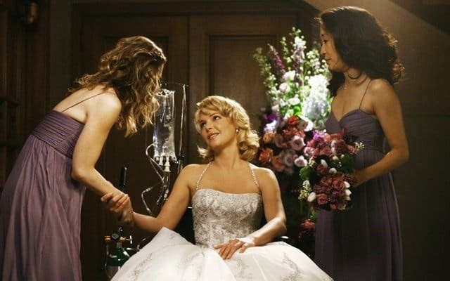 Grey's-Anatomy-Izzie-wedding-Meredith-Cristina-Bridesmaid