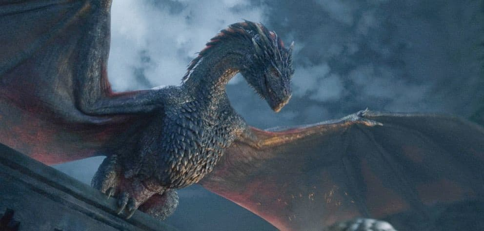 Drogon Dragon flying Game of Thrones