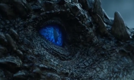 Viserion resurrected to Wight Dragon by the Night King